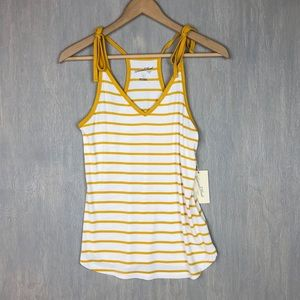 NWT Universal Thread ribbed stripe tank top S bow